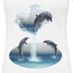 The Heart From The Dolphins - Frauen Premium T-Shirt