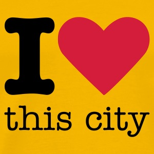 I Love This City T-shirt - Maglietta Premium da uomo