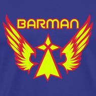 Motif ~ T-shirt je suis barman super hero breton