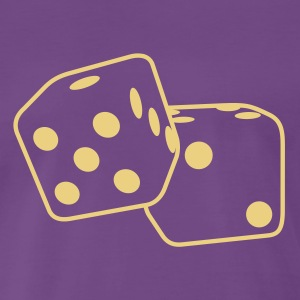 Roll the Dice T-shirts - Herre premium T-shirt