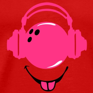casque headphones bowling dj smiley1 Tee shirts - T-shirt Premium Homme