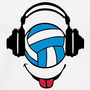 casque headphones volleyball dj smiley1 Tee shirts - T-shirt Premium Homme