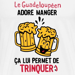 guadeloupeen trinquer biere alcool verre Tee shirts - T-shirt Premium Homme