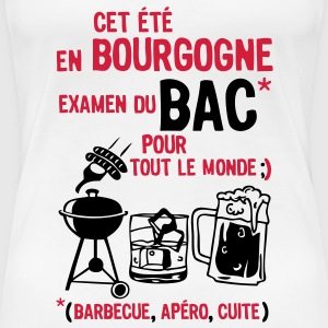 bac bourgogne barbecue apero cuite biere Tee shirts - T-shirt Premium Femme