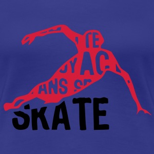 speed skating patinage texte mots 204 Tee shirts - T-shirt Premium Femme