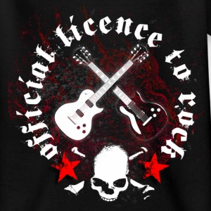 licence_to_rock_a T-shirts - Teenager-T-shirt