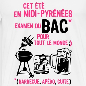 bac midi pyrenees barbecue apero cuite biere Tee shirts - T-shirt Premium Homme