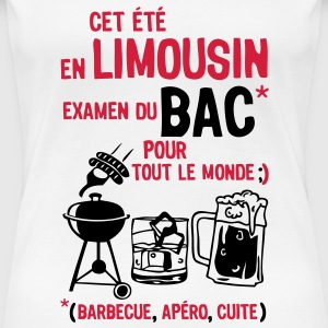 bac limousin barbecue apero cuite biere  Tee shirts - T-shirt Premium Femme