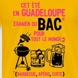 bac guadeloupe barbecue apero cuite biere Tee shirts - T-shirt Premium Homme