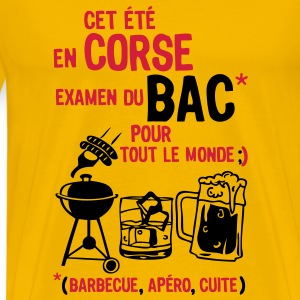 bac corse barbecue apero cuite biere Tee shirts - T-shirt Premium Homme