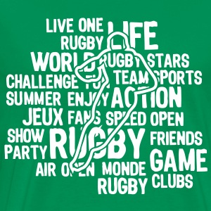 rugby texte mots1 Tee shirts - T-shirt Premium Homme