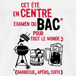 bac centre barbecue apero cuite biere Tee shirts - T-shirt Premium Homme
