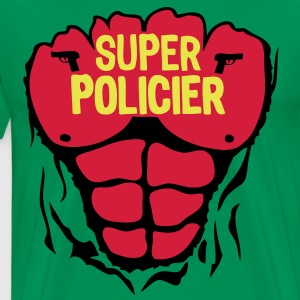 policier super corps muscle bodybuilding Tee shirts - T-shirt Premium Homme
