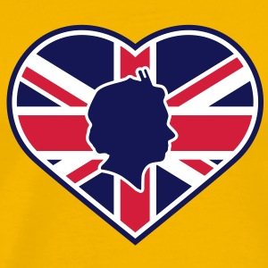 Love Queen Diamond Jubilee © T-Shirts - Premium T-skjorte for menn