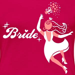 Bride - groom - wedding - marriage T-Shirts - Women's Premium T-Shirt