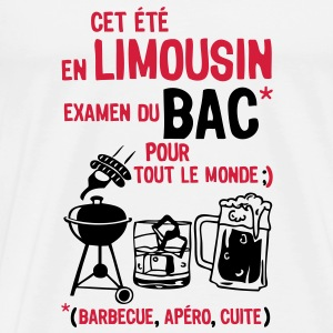 bac limousin barbecue apero cuite biere  Tee shirts - T-shirt Premium Homme