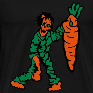 Zombie with Carrot T-Shirts - Men's Premium T-Shirt