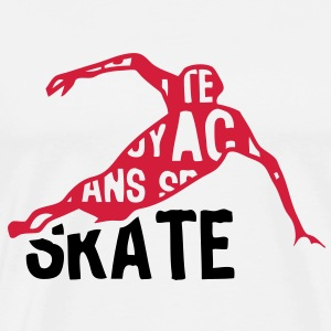 speed skating patinage texte mots 204 Tee shirts - T-shirt Premium Homme