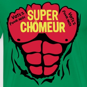 chomeur super corps muscle bodybuilding Tee shirts - T-shirt Premium Homme