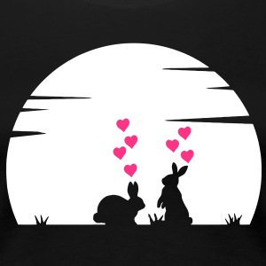 Lovely Bunnys Big Love and Moonshine T-Shirts - Frauen Premium T-Shirt