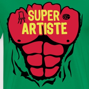 artiste super corps muscle bodybuilding Tee shirts - T-shirt Premium Homme