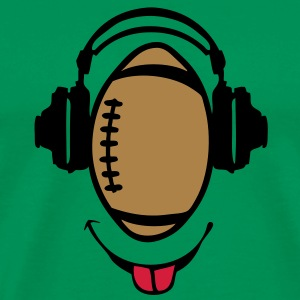 casque headphones football rugby dj smil Tee shirts - T-shirt Premium Homme