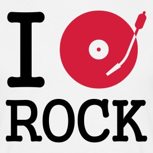 :: I dj / play / listen to rock :-: - Männer T-Shirt