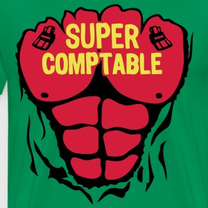 comptable super corps muscle bodybuildin Tee shirts - T-shirt Premium Homme