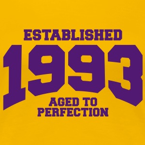 aged to perfection established 1993 (sv) T-shirts - Premium-T-shirt dam