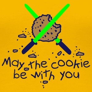 May the cookie be with you T-shirts - Dame premium T-shirt