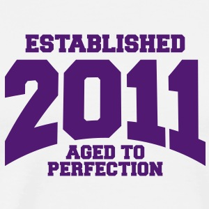 aged to perfection established 2011 (dk) T-shirts - Herre premium T-shirt