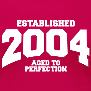 aged to perfection established 2004 (sv) T-shirts - Premium-T-shirt dam