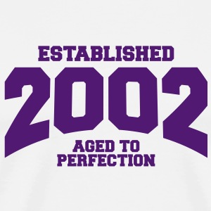 aged to perfection established 2002 (fr) Tee shirts - T-shirt Premium Homme