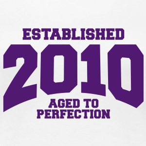 aged to perfection established 2010 (dk) T-shirts - Dame premium T-shirt
