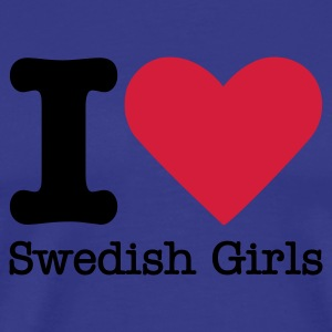 I Love Swedish Girls T-shirts - Mannen Premium T-shirt