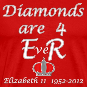 diamonds are foR ER jubilee year 2012 T-Shirts - Men's Premium T-Shirt