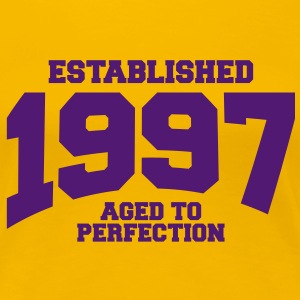 aged to perfection established 1997 (sv) T-shirts - Premium-T-shirt dam