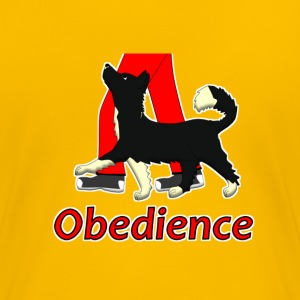 Obedience 1 Border Collie 1 Camisetas - Camiseta premium mujer