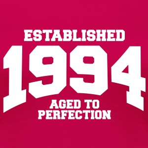 aged to perfection established 1994 (sv) T-shirts - Premium-T-shirt dam