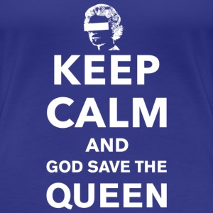 Keep Calm and God Save the Queen - Women's Premium T-Shirt