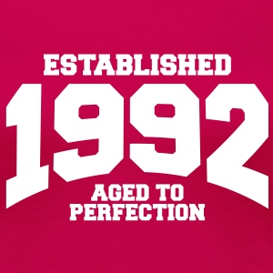 aged to perfection established 1992 (es) Camisetas - Camiseta premium mujer