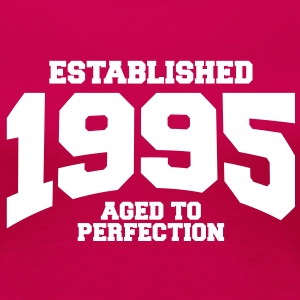 aged to perfection established 1995 (es) Camisetas - Camiseta premium mujer