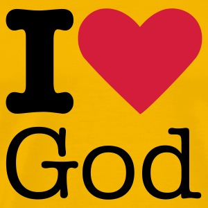 I Love God T-shirts - Herre premium T-shirt
