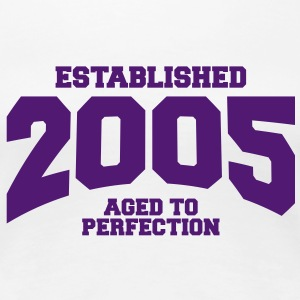 aged to perfection established 2005 (nl) T-shirts - Vrouwen Premium T-shirt