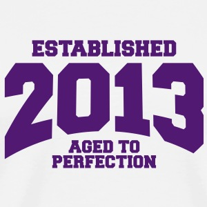 aged to perfection established 2013 (dk) T-shirts - Herre premium T-shirt
