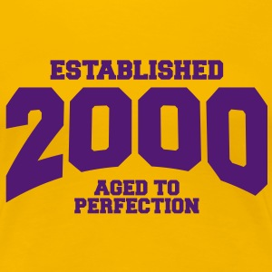 aged to perfection established 2000 (es) Camisetas - Camiseta premium mujer