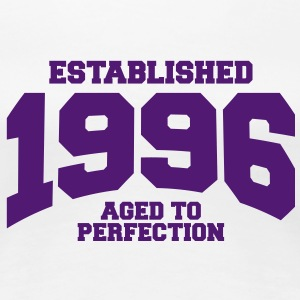 aged to perfection established 1996 (es) Camisetas - Camiseta premium mujer