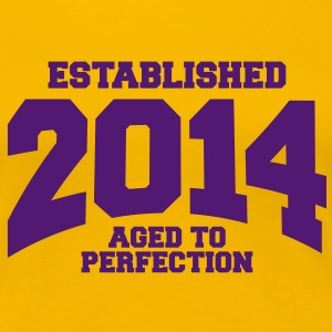 aged to perfection established 2014 (es) Camisetas - Camiseta premium mujer