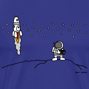 last man on the moon - men's tee - Männer Premium T-Shirt