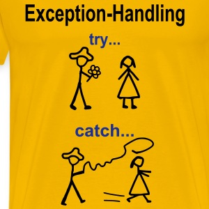 Try-Catch-Java-Code T-Shirts - Männer Premium T-Shirt